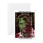 Jonathan Zombie Trading Card Greeting Cards
