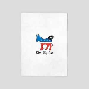 Kiss My ASS 5'x7'Area Rug