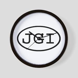 JGI Oval Wall Clock