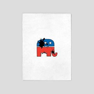No Elephants 5'x7'Area Rug