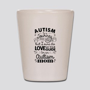 Autism Journey Autism Mom Shot Glass