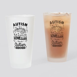Autism Journey Autism Mom Drinking Glass