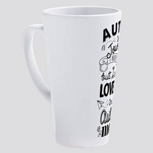 Autism Journey Autism Mom 17 oz Latte Mug