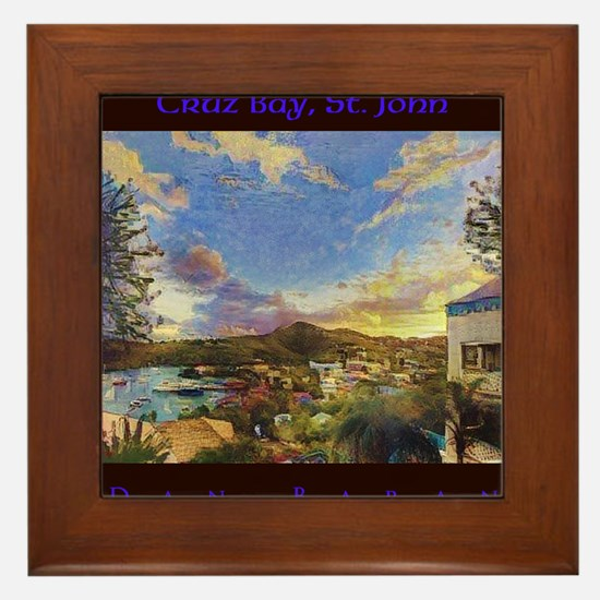 Cruz Bay, St. John Framed Tile