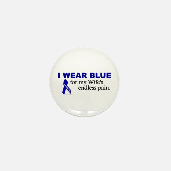 I Wear Blue For My Wife's Pain Mini Button
