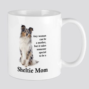 Blue Merle Sheltie Mom Mugs