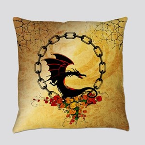 Cute, funny dragon Everyday Pillow