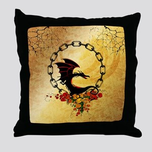 Cute, funny dragon Throw Pillow