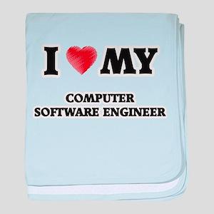 I love my Computer Software Engineer baby blanket