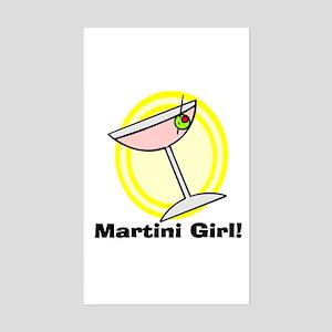 Martini Girl! Rectangle Sticker