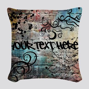 Personalized - Graffiti Wall * Woven Throw Pillow