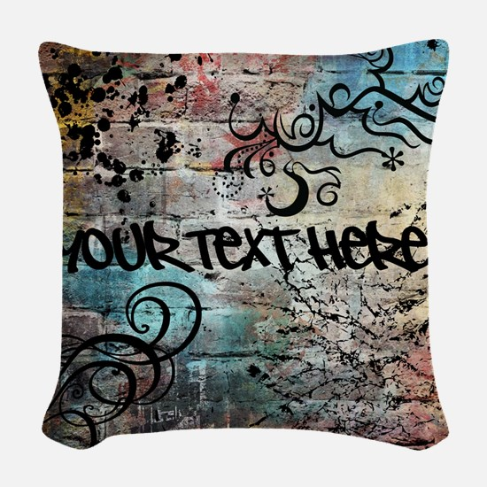 Personalized - Graffiti Wall * Woven Throw Pillow