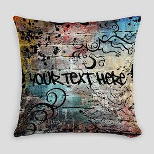Personalized - Graffiti Wall * Everyday Pillow