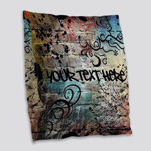 Personalized - Graffiti Wall * Burlap Throw Pillow