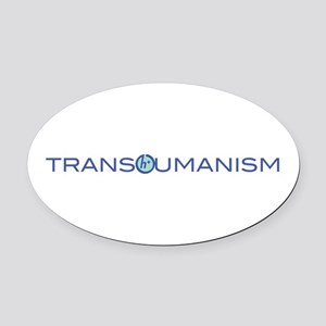 Transhumanism Oval Car Magnet