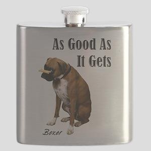 Good Boxer Dog Flask