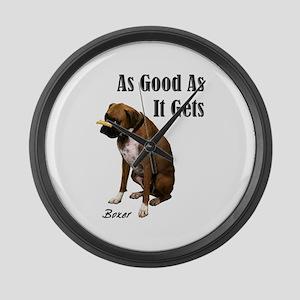 Good Boxer Dog Large Wall Clock