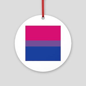 Bisexual Pride Round Ornament