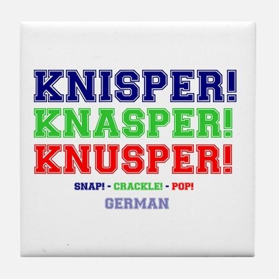 SNAP - CRACKLE - POP - GERMAN Tile Coaster