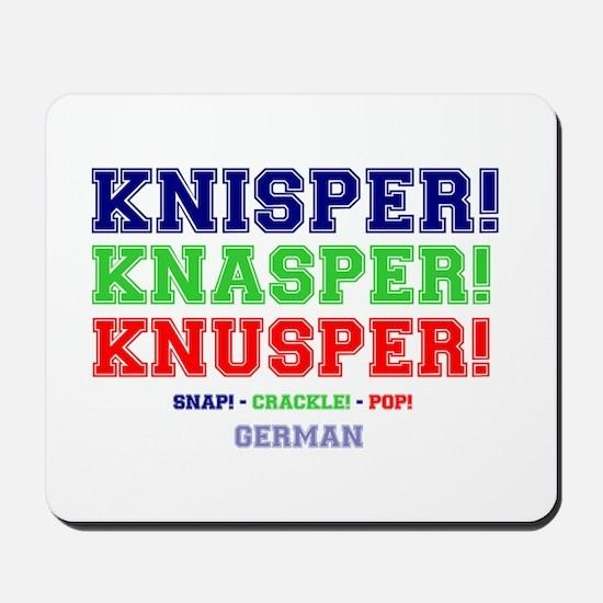 SNAP - CRACKLE - POP - GERMAN Mousepad