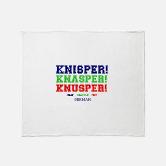 SNAP - CRACKLE - POP - GERMAN Throw Blanket