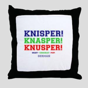 SNAP - CRACKLE - POP - GERMAN Throw Pillow