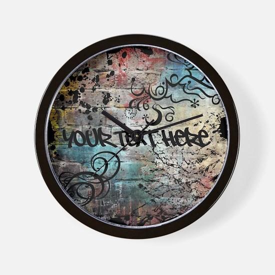 PERSONALIZED - Graffiti Wall * Wall Clock