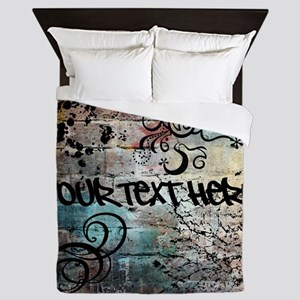 PERSONALIZED - Graffiti Wall * Queen Duvet