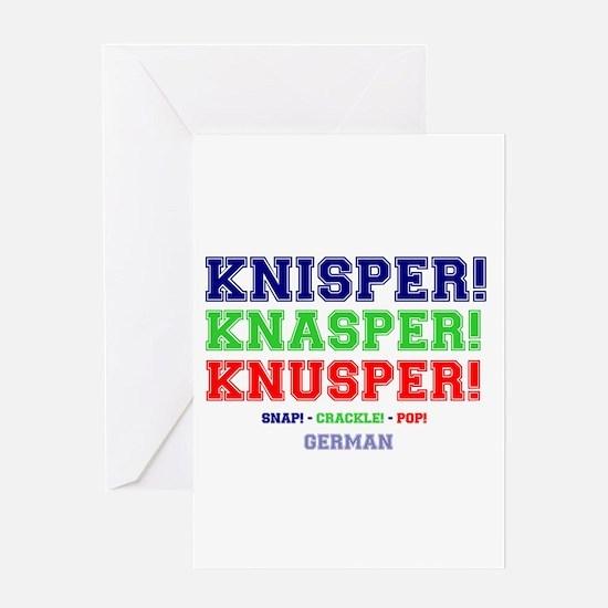 SNAP - CRACKLE - POP - GERMAN Greeting Cards