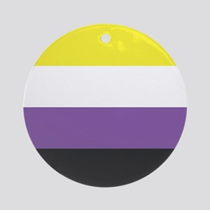 Non-Binary Pride Round Ornament