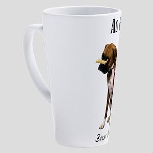 Good Boxer Dog 17 oz Latte Mug
