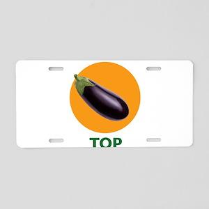 Eggplant Top Aluminum License Plate