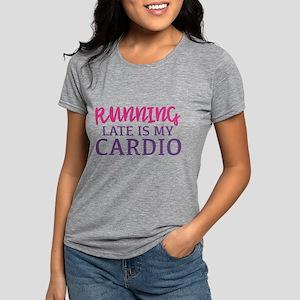 Running Late Is My Cardio Women's Dark T-Shirt