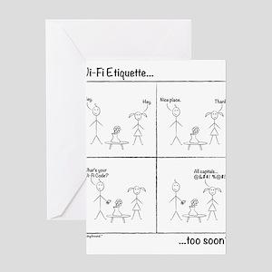 Wi-Fi Etiquette Greeting Cards