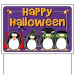 Happy Halloween Penguin Yard Sign