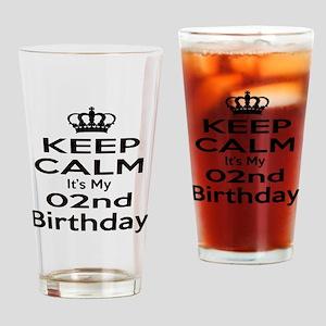 Keep calm It's my 2nd Birthday Drinking Glass