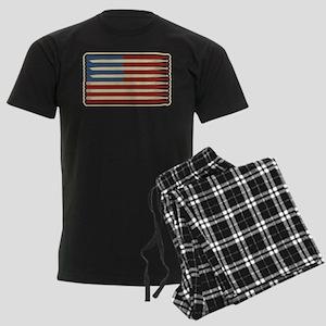 Retro Drumstick American Flag Pajamas