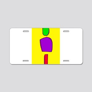 Simple Yellow Aluminum License Plate