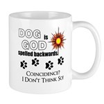 Dog is God Spelled Backwards Mugs