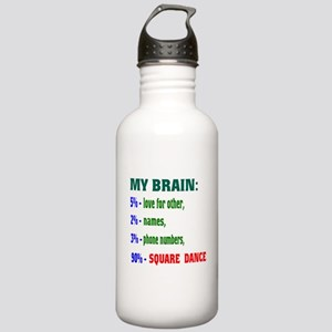My Brain, 90% Square d Stainless Water Bottle 1.0L