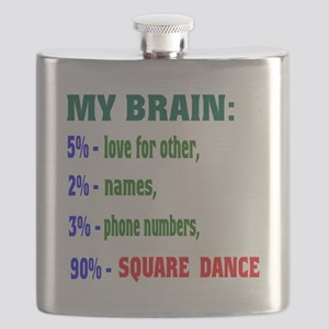 My Brain, 90% Square dance Flask