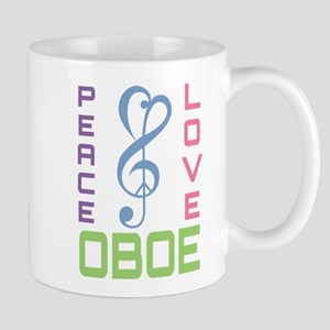Peace Love Oboe Music Mugs