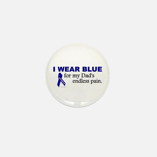 I Wear Blue For My Dad's Pain Mini Button