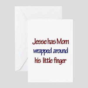 Jesse - Mom Wrapped Around F Greeting Card