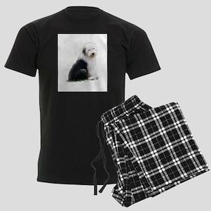 old english sheepdog puppy sitting Pajamas