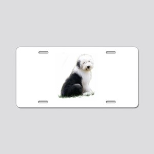 old english sheepdog puppy sitting Aluminum Licens