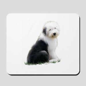 old english sheepdog puppy sitting Mousepad