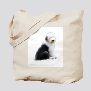 old english sheepdog puppy sitting Tote Bag