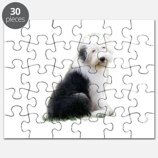 old english sheepdog puppy sitting Puzzle