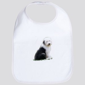 old english sheepdog puppy sitting Bib